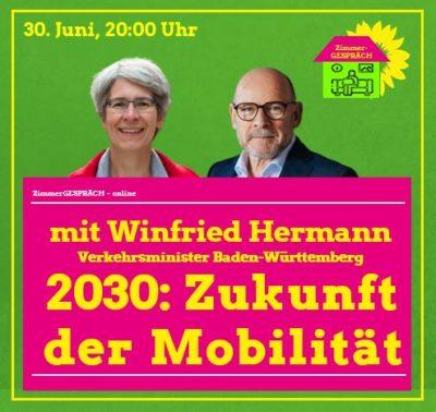 ZimmerGESPRÄCH mit Verkehrsminister Winfried Hermann